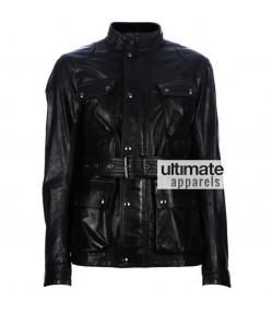 Belstaff Panther Antique Black Motorcycle Jacket