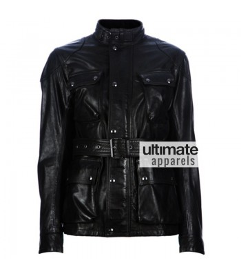 Belstaff Panther Antique Black Motorcycle Jacket