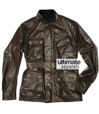 Ultimate Bel staff Panther Men's Brown Motorcycle Jacket