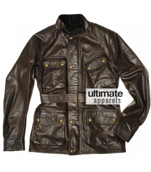 Ultimate Bel staff Panther Men's Brown Motorcycle Jacket