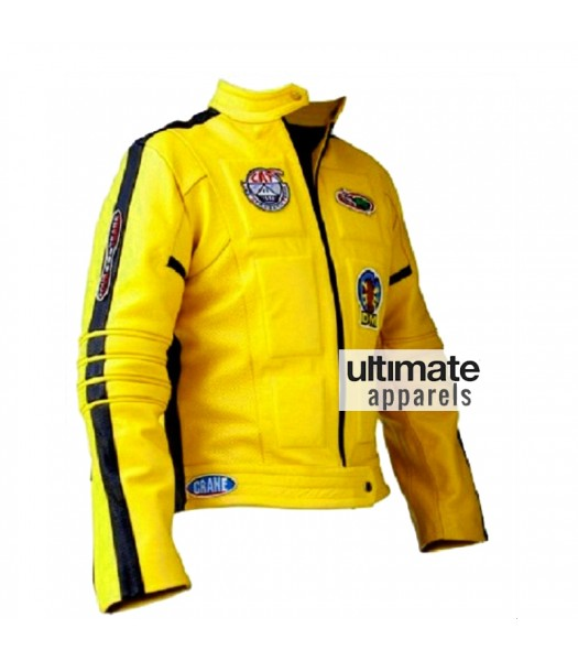 Kill Bill Beatrix Kiddo Yellow Motorcycle Leather Jacket