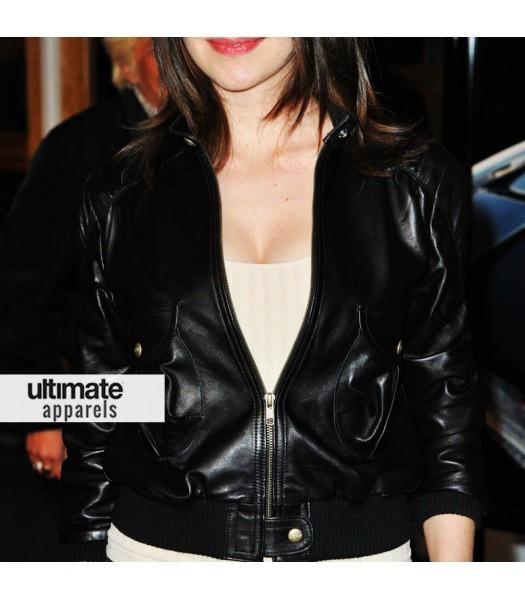 Alison Brie Schermerhorn Black Jacket