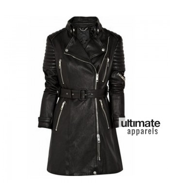 Designers Burberry Prorsum Quilted Trench Leather Coat