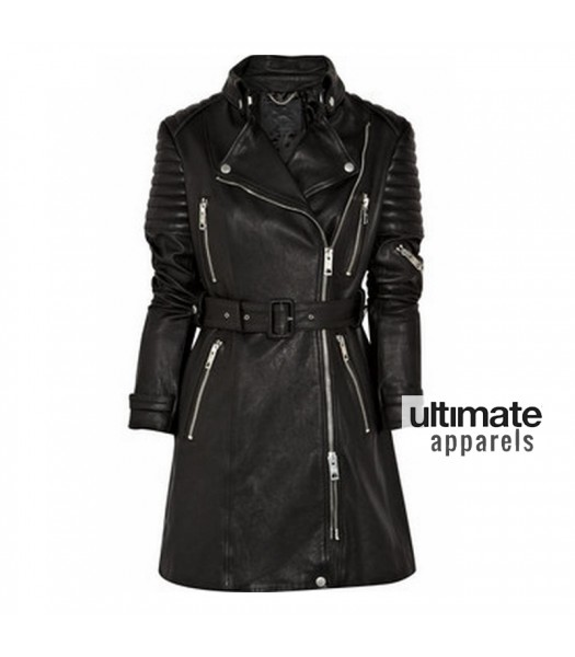 19fc5741156 Designers Burberry Prorsum Quilted Trench Leather Coat. $300.00 $230.00