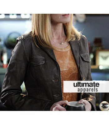 CSI Marg Helgenberger (Catherine Willows) Brown Jacket