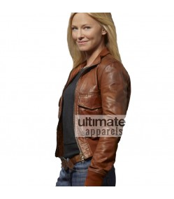 Chase Kelli Giddish (Annie Frost) Brown Bomber Jacket