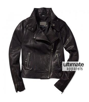 Fringe Anna Torv (Olivia Dunham) Black Biker Jacket