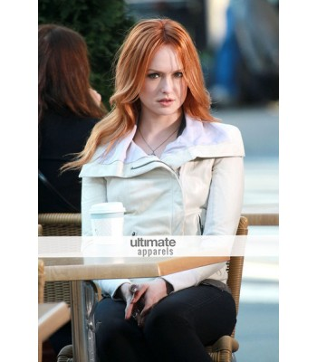 Gossip Girl Kaylee Defer Rick Style Owens White Jacket