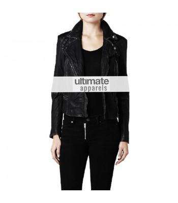 Jennifer Lawrence All Saints Replica Black Leather Jacket