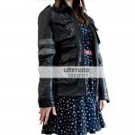 Ladies Black Resident Evil 6 Jacket With Purple Stripes
