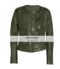 Muubaa Ultimate Women Olive Green Designers Jacket