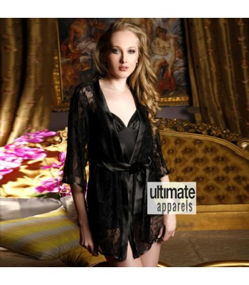 Babydoll Black Long Nighty Nightgown Sale