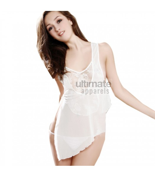 Bridal Babydoll Sexy White Erotic Lingerie Ladies Nighty