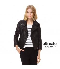 Teen Slimfit Black Biker Style Leather Jacket