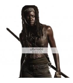 The Walking Dead Michonne (Danai Gurira) Brown Leather Vest