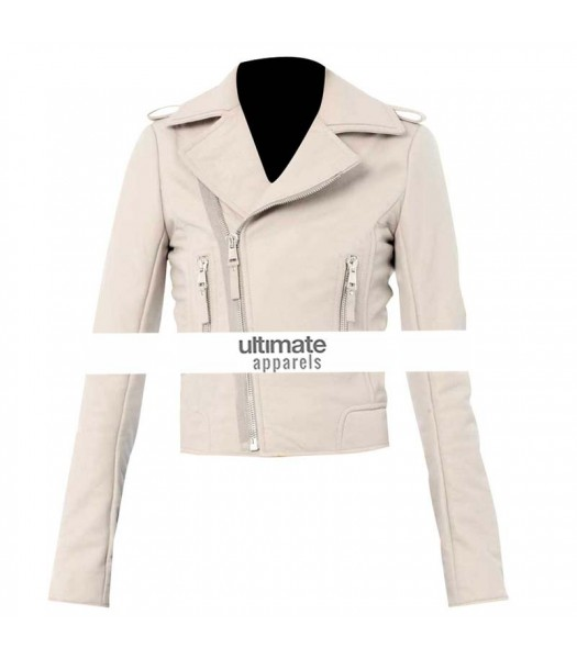 Transformers 3 Rosie Huntington Whiteley White Jacket For Women