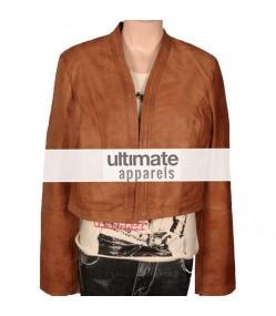 Women's Ultimate Short Body Brown Motorcycle Jacket