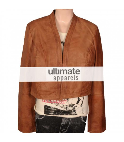 Women's Ultimate Short Body Brown Motorcycle Jacket