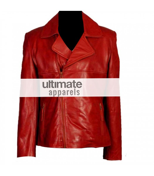 a5c70fab7e3 Women's Brando Style Slim-Fit Red Motorcycle Jacket