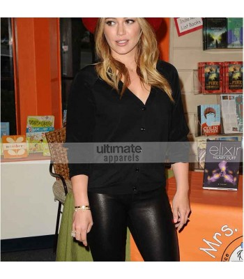 Hilary Duff Designers Leather Pant For Women