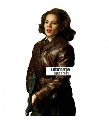 Captain America Hayley Atwell (Peggy Carter) Brown Jacket