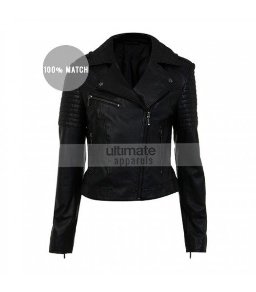Fast And Furious Gal Gadot Black Designers Biker Jacket
