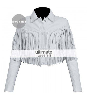 Ferris Bueller's Day Off Sloane Peterson White Fringe Jacket