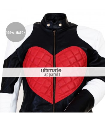 Kylie Minogue Red Heart Timebomb White Motorcycle Jacket