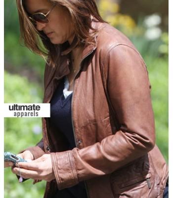 Law & Order SVU Olivia Benson (Mariska Hargitay) Brown Jacket