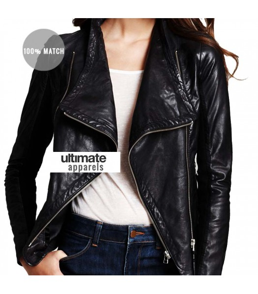 Mackage Women's Black Moto Leather Jacket