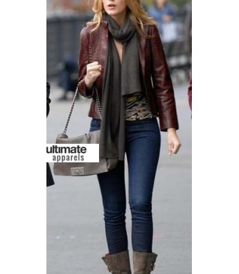 New York, I Love You Blake Lively Leather Jacket