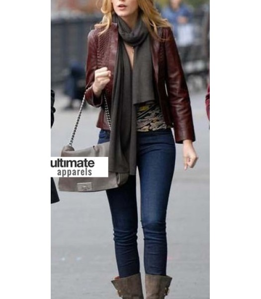 New York, I Love You Blake Lively Leather Jacket